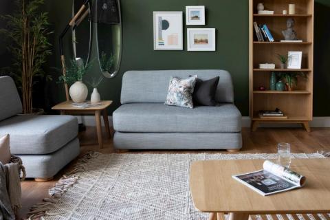 2.5 Seater Grey Ralph Sofa Bed
