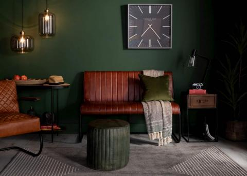 Grayson Leather Dining Bench & Oliver Stool Lookbook