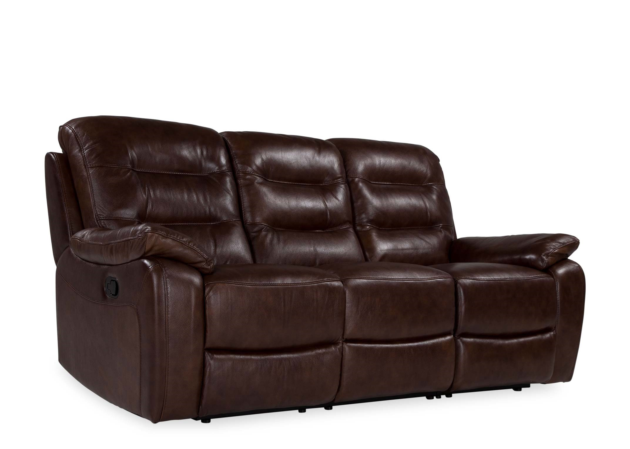 Picture of: 3 Seater Brown Leather Reclining Sofa Navona Ez Living Furniture
