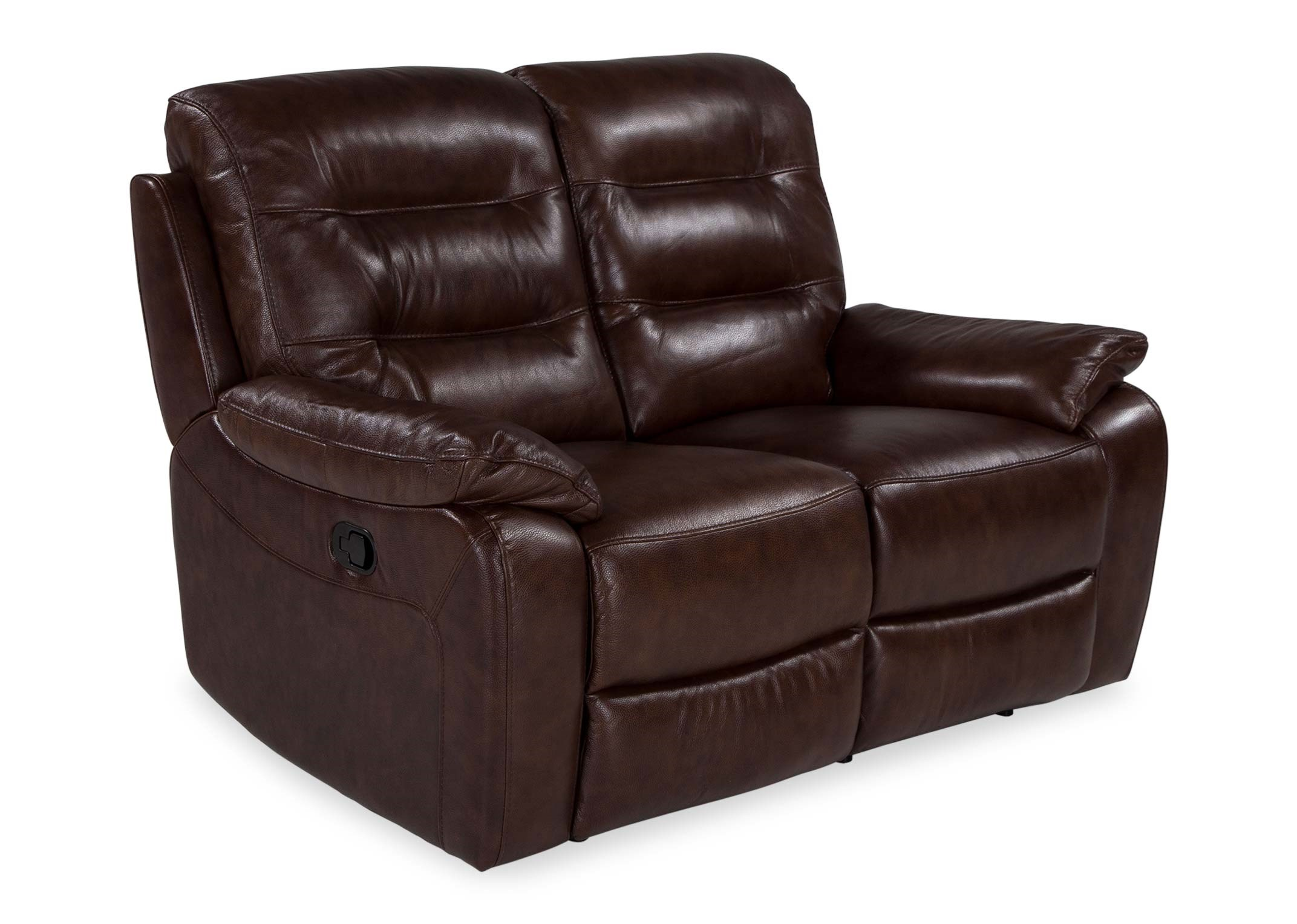 Picture of: 2 Seater Brown Leather Reclining Sofa Navona Ez Living Furniture