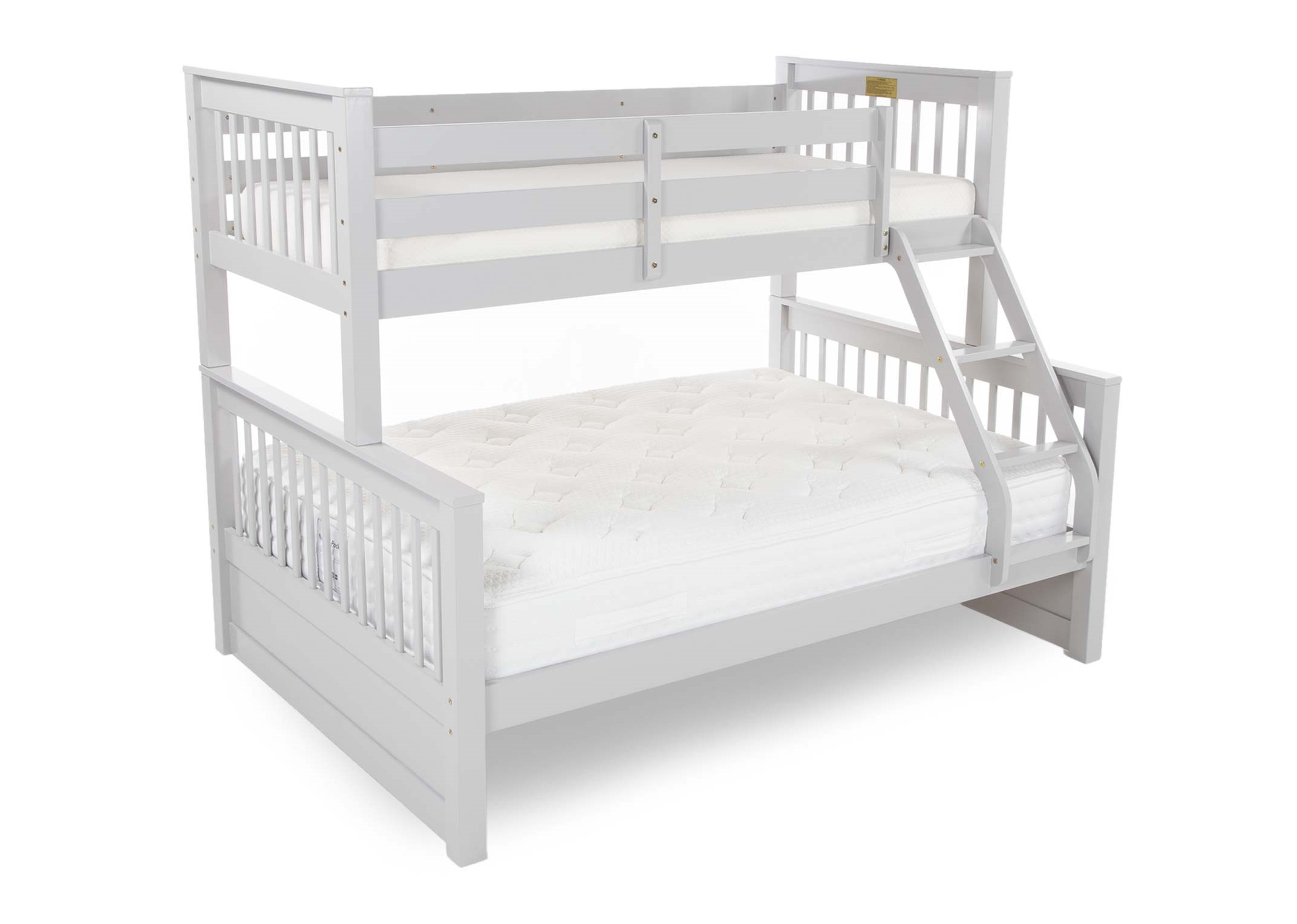 Picture of: Grey Solid Wood Twin Bunk Bed Lara Ez Living Furniture