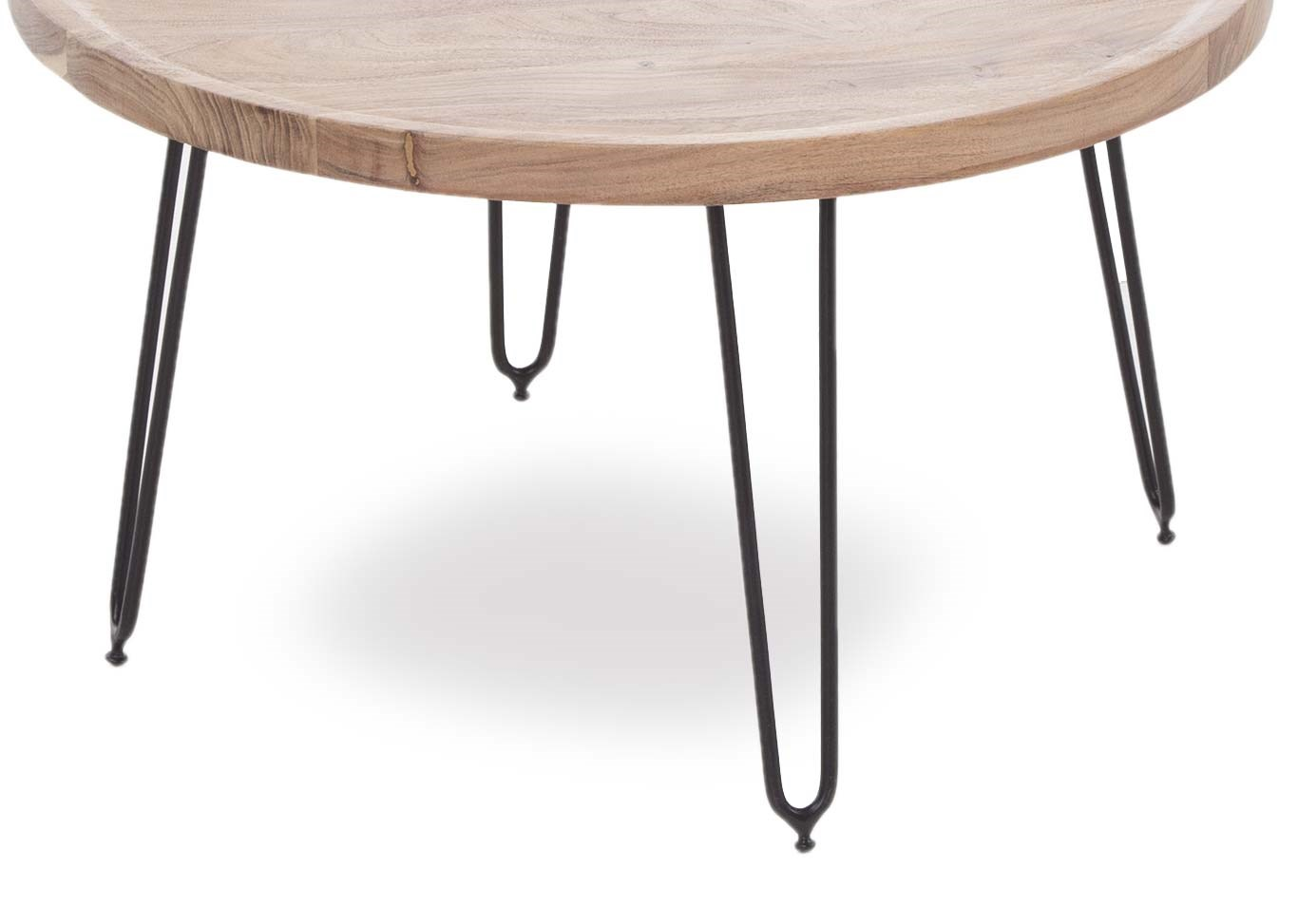 Picture of: Large Round Coffee Table With Black Metal Legs Crete Ez Living Furniture