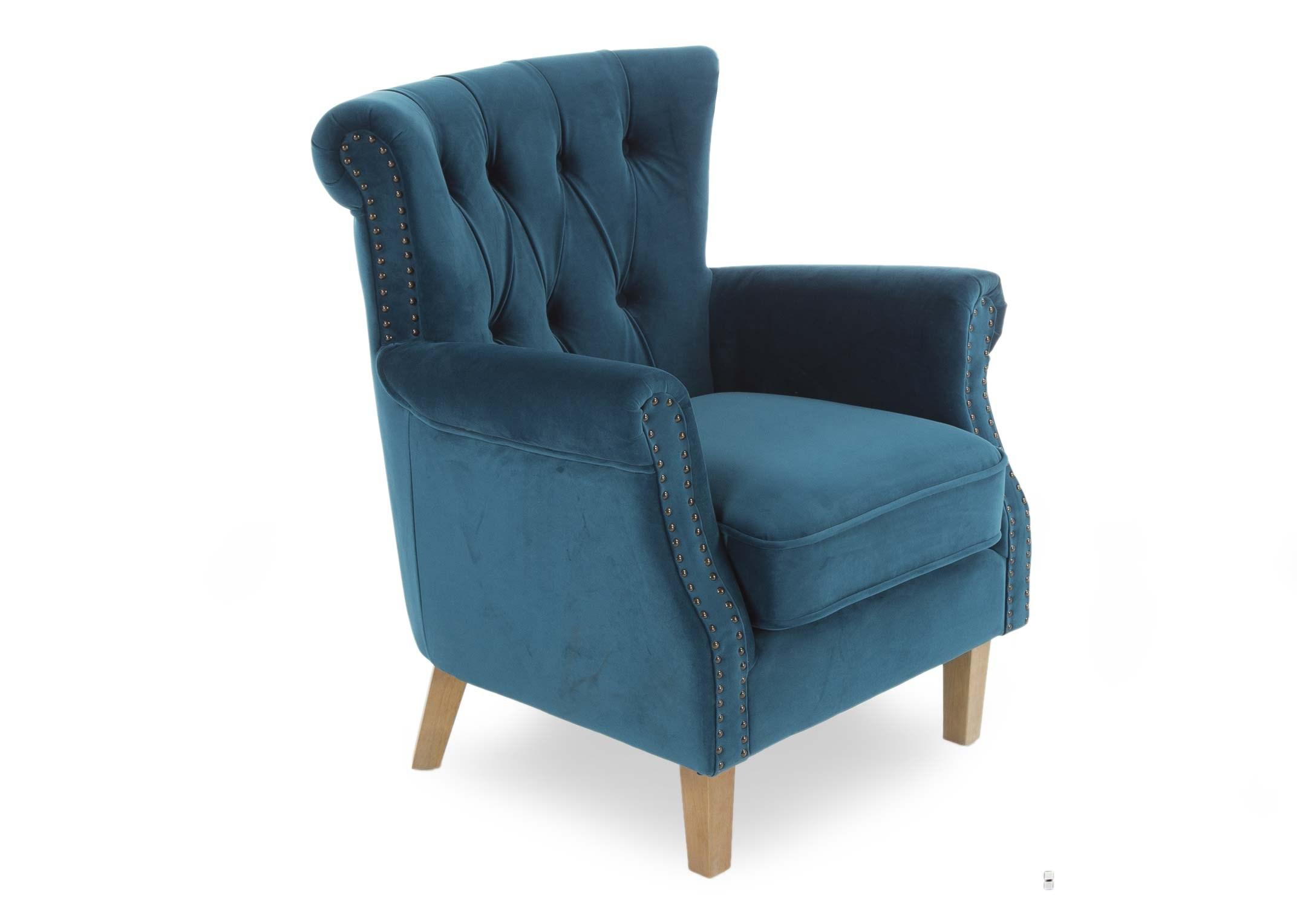 Light Teal Velvet Armchair With New Light Oak Leg Sara Ez Living Furniture