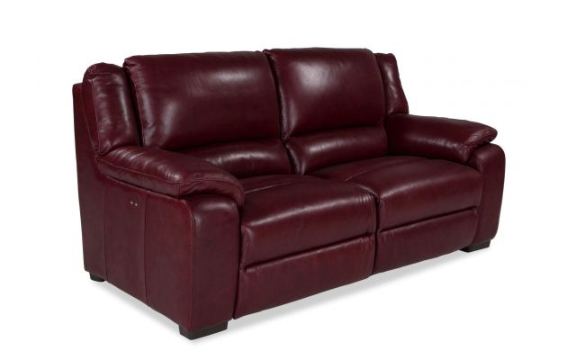3 Seater Red Leather Power Reclining, Red Leather Reclining Sofa And Loveseat