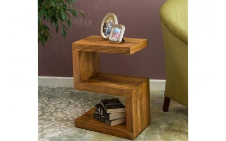 S Shaped Sheesham Wood Cube - India