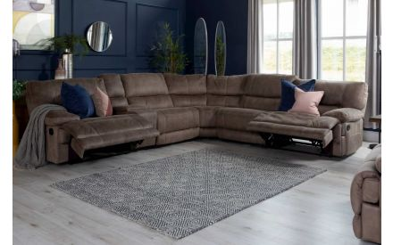 Taupe Faux Suede Fabric Armless Unit - Baxter