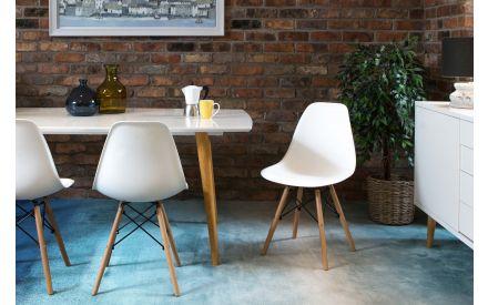 Modern White Dining Chair - Kuga