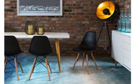 Modern Black Dining Chair - Kuga