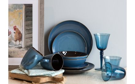 Blue Soup Bowl - Sierra