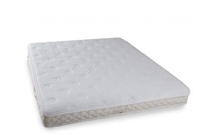 Angled shot of the 4ft6 orthopedic Pocket Comfort roll-up double mattress with memory foam
