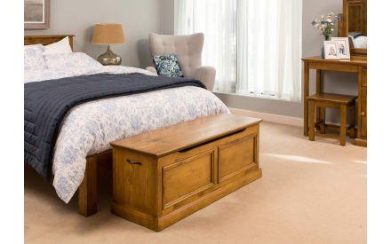 Natural Pine Blanket Box - Taylor