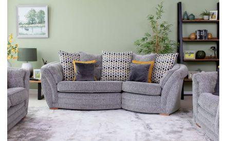 Made to Order Fabric Snuggler Pillowback Sofa - Isaac