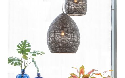 Large Bronze and Gold Hanging Lamp - Nayla