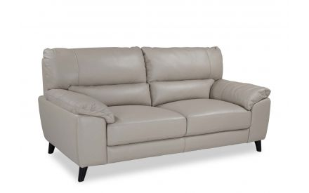 A power shot image for the Alfredo 3 seater grey leather sofa.