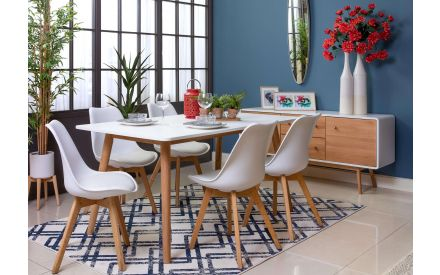 White Top Dining Table (160cm) - Tia