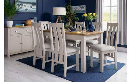 Two Tone Oak Extendable Dining Table - Kinsale Oak