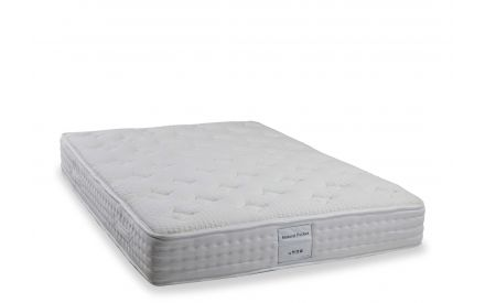 A full view of the  4 ft 6 Natural Pocket roll up mattress.