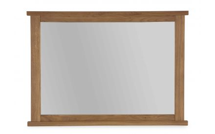 A front view image of the Hayley Oak mirror.