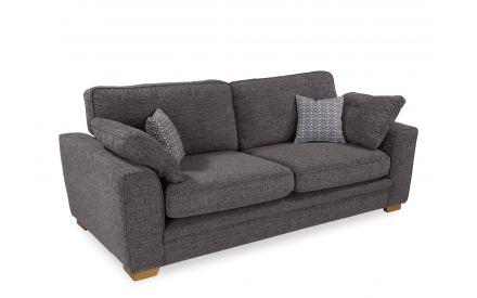 Fabric 4 Seater Foam Highback Sofa - Baltimore