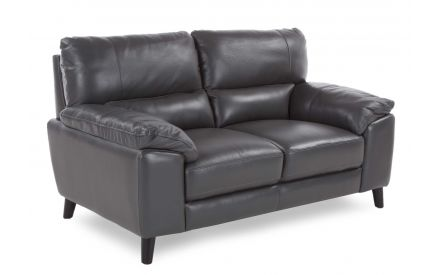 A power shot image of the leather 2 seater Alfredo sofa
