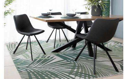 Dark Grey  Faux Leather Dining Chair - Yukon