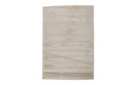 A cream deep rile rug from EZ Living Furniture's Viggo range. Vertical view.