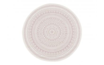 Circular Aztec Indra rug shown in front image
