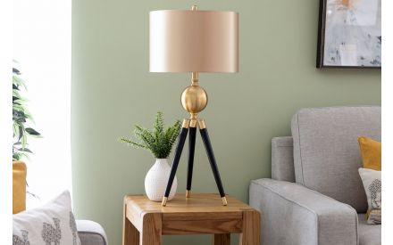 Brass and Black Table Lamp - Lennox