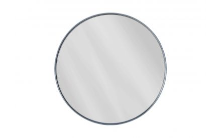 Small Elling Dark Blue Framed Mirror image shown face and blue rim