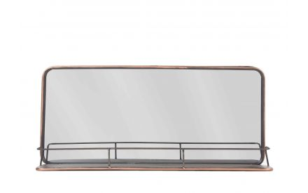 Shelf Copper Mirror shot from the front showing rectangular shape