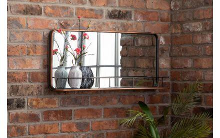 Shelf Copper Mirror