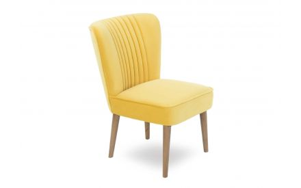 A power shot image of the Paloma Yellow Velvet Chair.