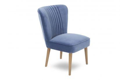 A powershot image of the Paloma Blue velvet chair.