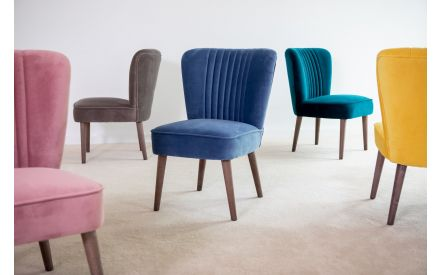 Blue Velvet Chair - Paloma