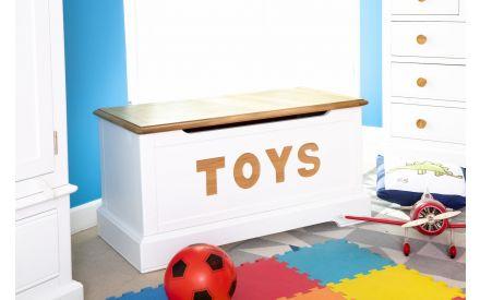 White & Oak Toy Box - Dreams