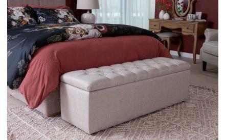Linen Fabric Blanket Box - Majestic