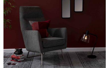 Grey Fabric Armchair - Maisie