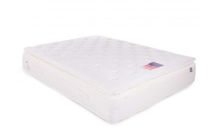 A 5ft king size pocket spring mattress from EZ Living Furniture's Tranquility Deluxe range. Angled view of the mattress