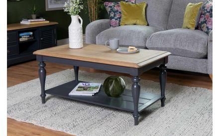 Dark Grey & Oak Coffee Table - Toulouse