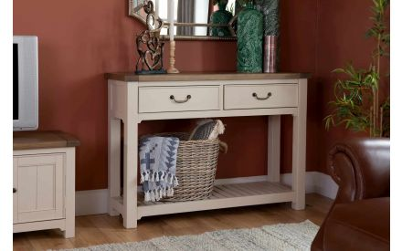 Reclaimed Wood Cream Console Table - Hampshire