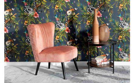 Pink Velvet Lounge Chair - Sakura