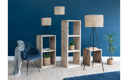 Single Section Wood Display Unit - Cube