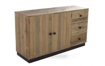 A reclaimed pine sideboard with 2 doors