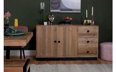 2 Door & 3 Drawer Reclaimed Pine Sideboard - San Francisco
