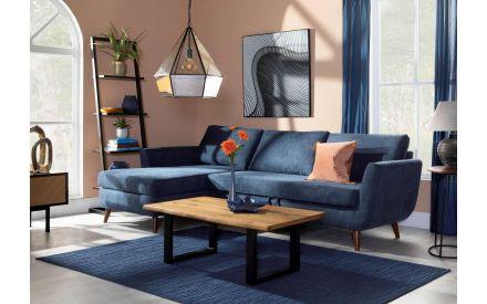 3 Seater Navy Sofa Bed RAF Corner Chaise - Sasha