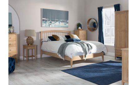 Super King (6ft) Natural Oak Bed Frame - Arc