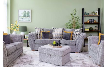 Made to Order Fabric Banquette Footstool - Isaac