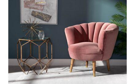 Pink Velvet Armchair - Blush