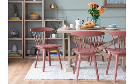 Light Brown Oak Dining Chair - Spindle