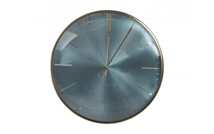 The medium teal oyster wall clock from the Thomas Kent collection at EZ Living Furniture - front view
